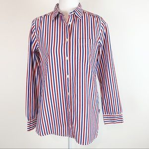 J Crew women's classic-fit boy shirt stripes